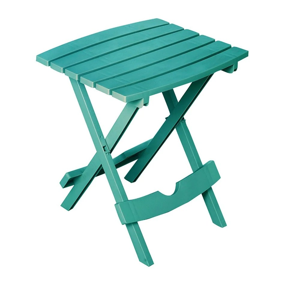 Table Polypropylène Adams 8500 94 3937 Quik Fold Polypropylene Side Table Teal Hold Upto 25 Lbs