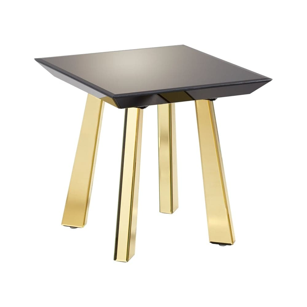 Long Wood Desk Cyan Design Abbott Side Table Abbott 21 75 Inch Long Wood And Mirrored Glass Side Table Black And Gold
