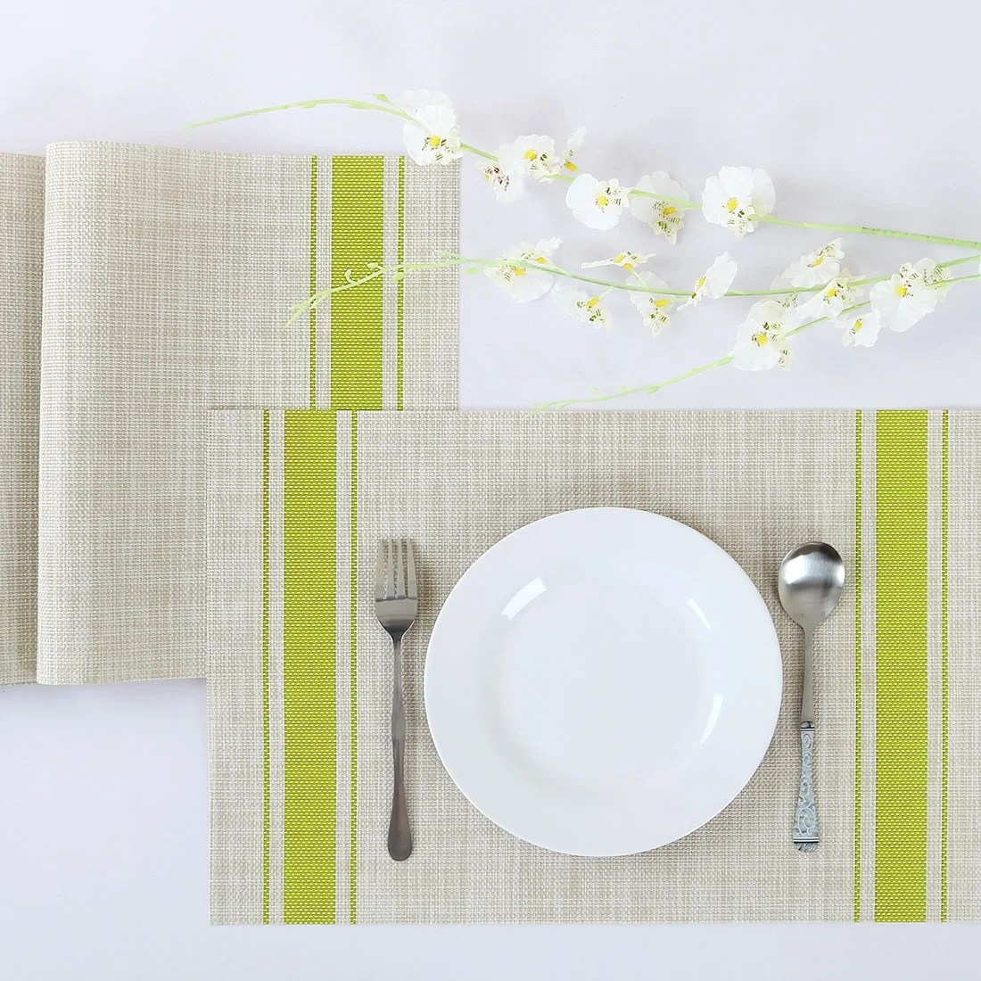 Pvc Placemats 4 6pcs Heat Insulated Placemats Anti Slip Washable Pvc Table Mats