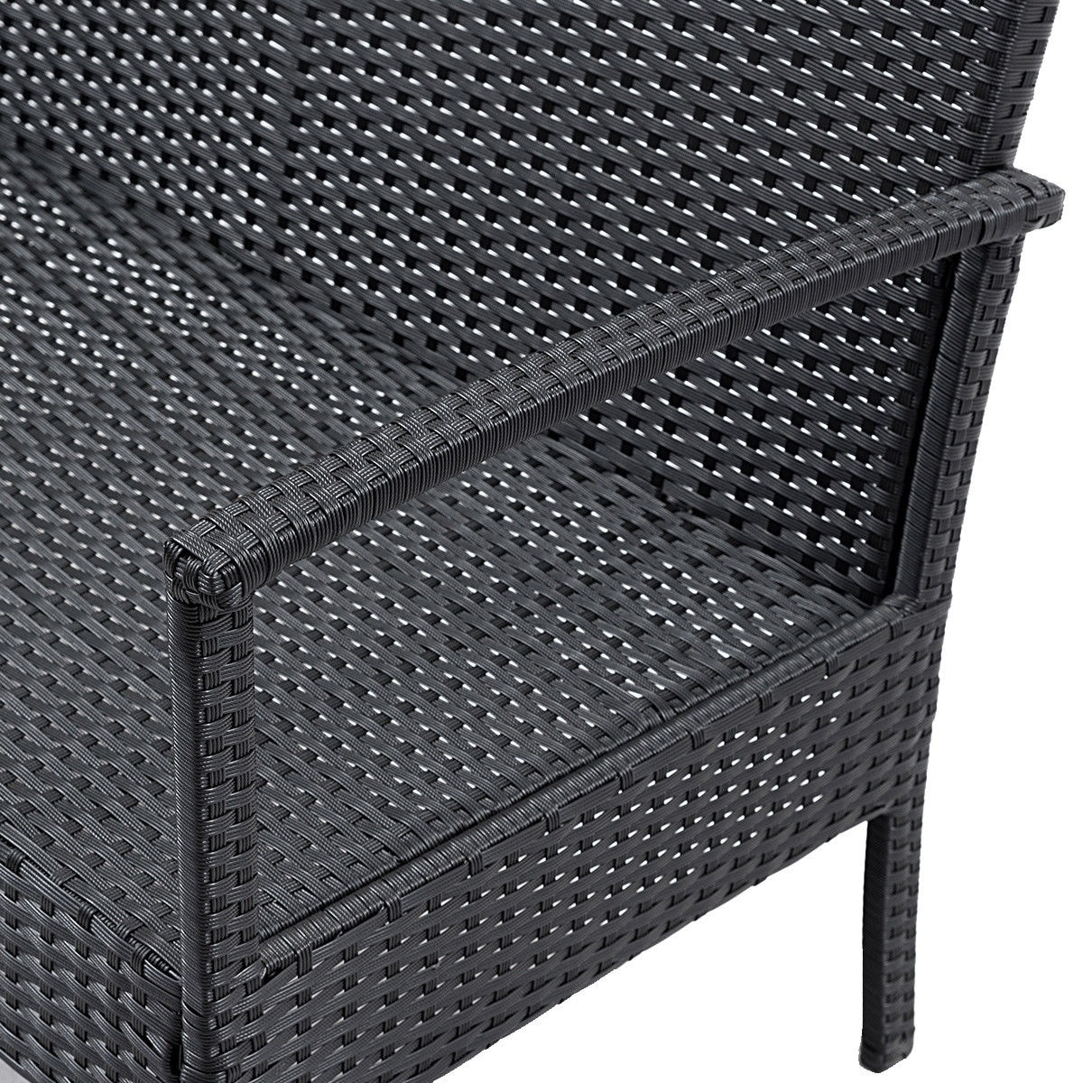 Anatol 3 Seater Retro Sofa Costway 4 Pcs Outdoor Patio Rattan Wicker Furniture Set Table Sofa Cushioned Deck Black