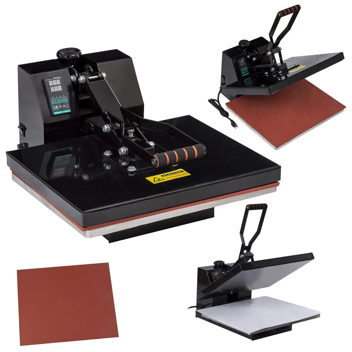 Sublimation Press Costway 16 X 20 Digital Heat Press Machine Transfer Sublimation Clamshell For T Shirts