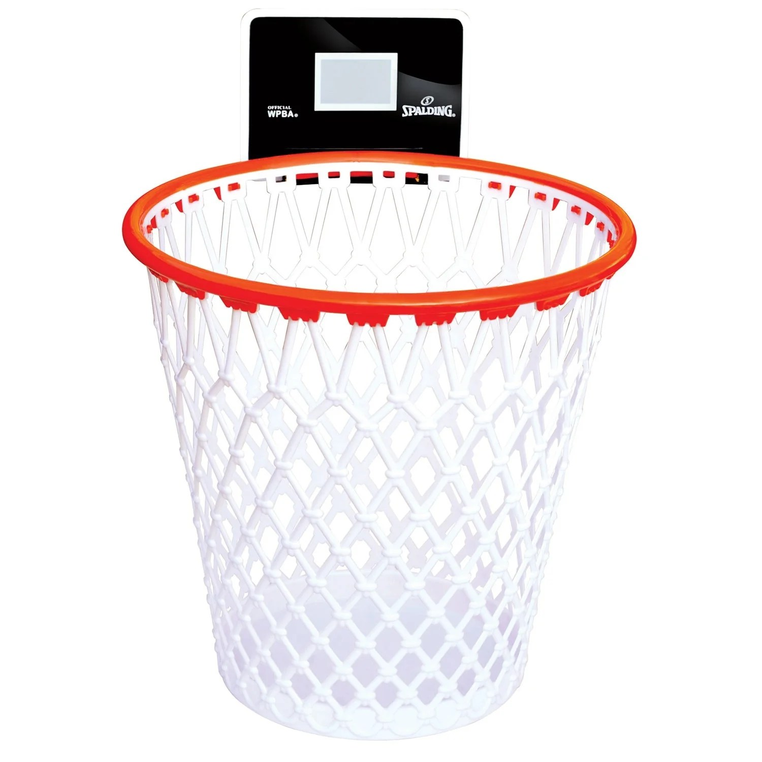 Laundry Trash Cans Spalding Hoopster Waste Basket Basketball Hoop Trash Can With Backboard 12 25