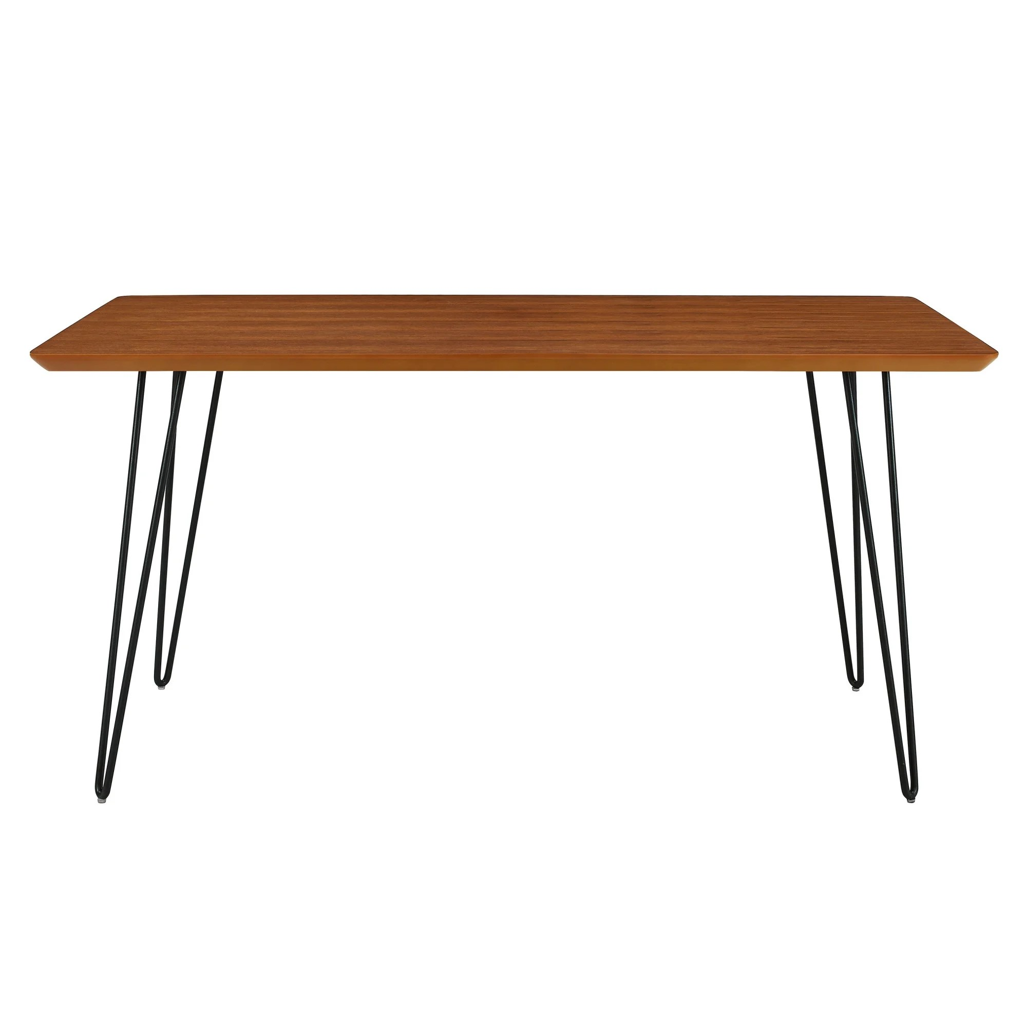 Long Wood Desk Delacora We Bdw60hpd Hairpin 34