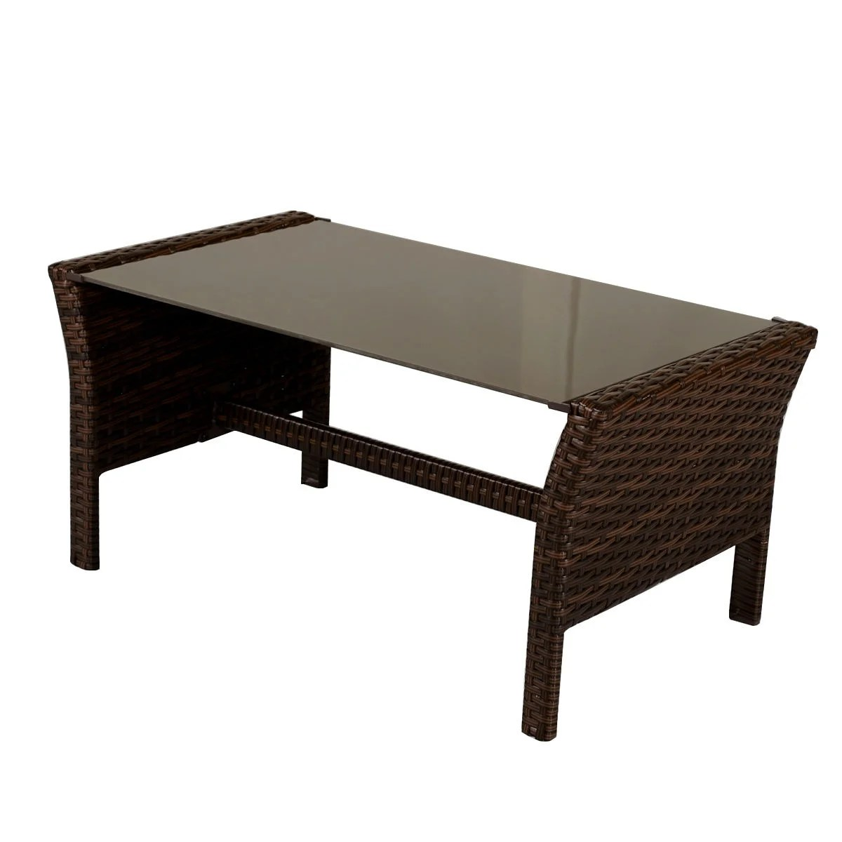 Rattan Table Costway 4 Pieces Patio Furniture Wicker Rattan Sofa Set Garden Coffee Table As Pic