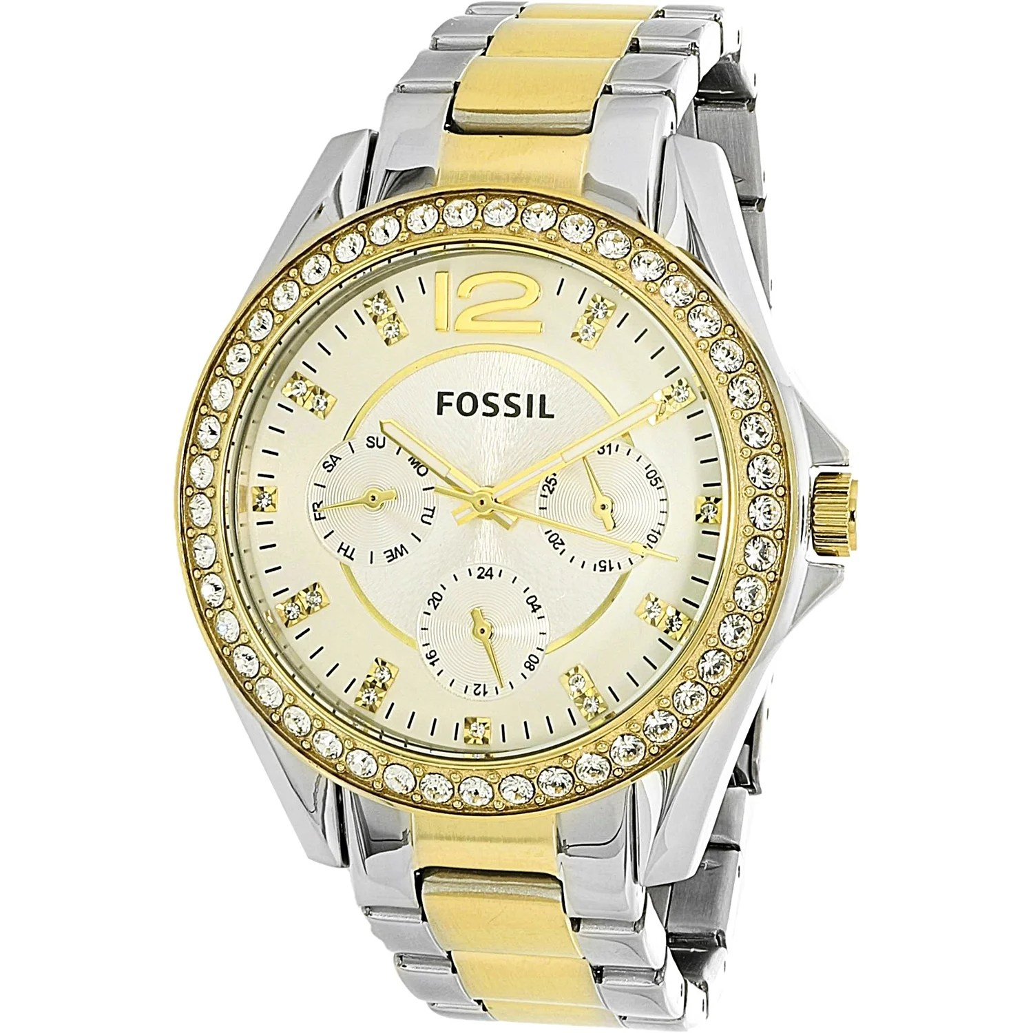 Fossil Riley Fossil Women S Riley Silver Stainless Steel Quartz Fashion Watch
