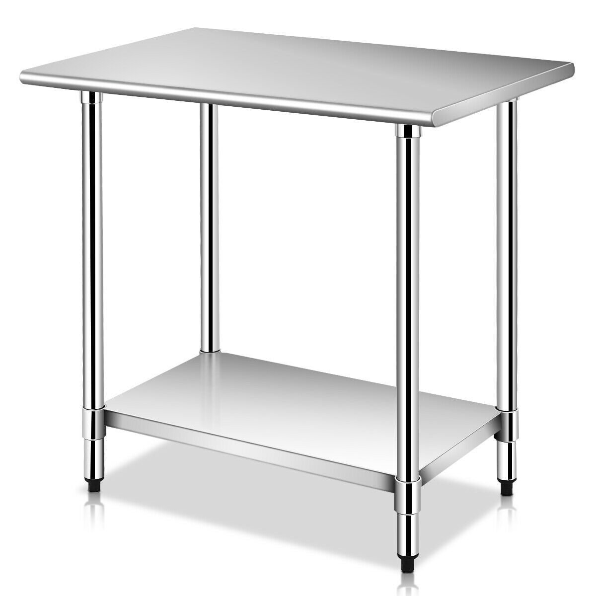 Stainless Restaurant Table Costway 24 X 36 Stainless Steel Work Prep Table Commercial Kitchen Restaurant Sliver