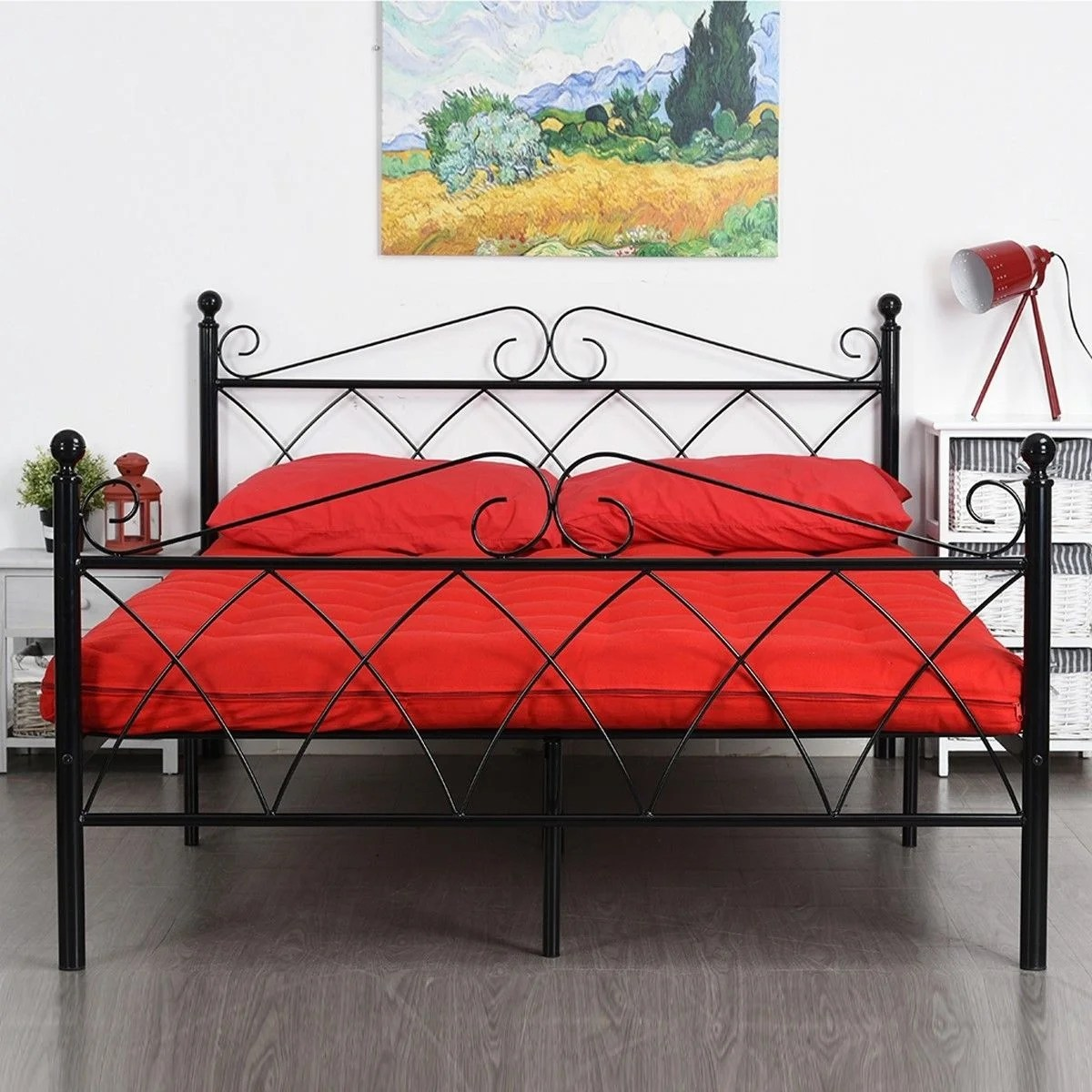 Under Bed Storage Frame Easy To Assemble Platform Metal Bed Frame Foundation With Headboard Under Bed Storage