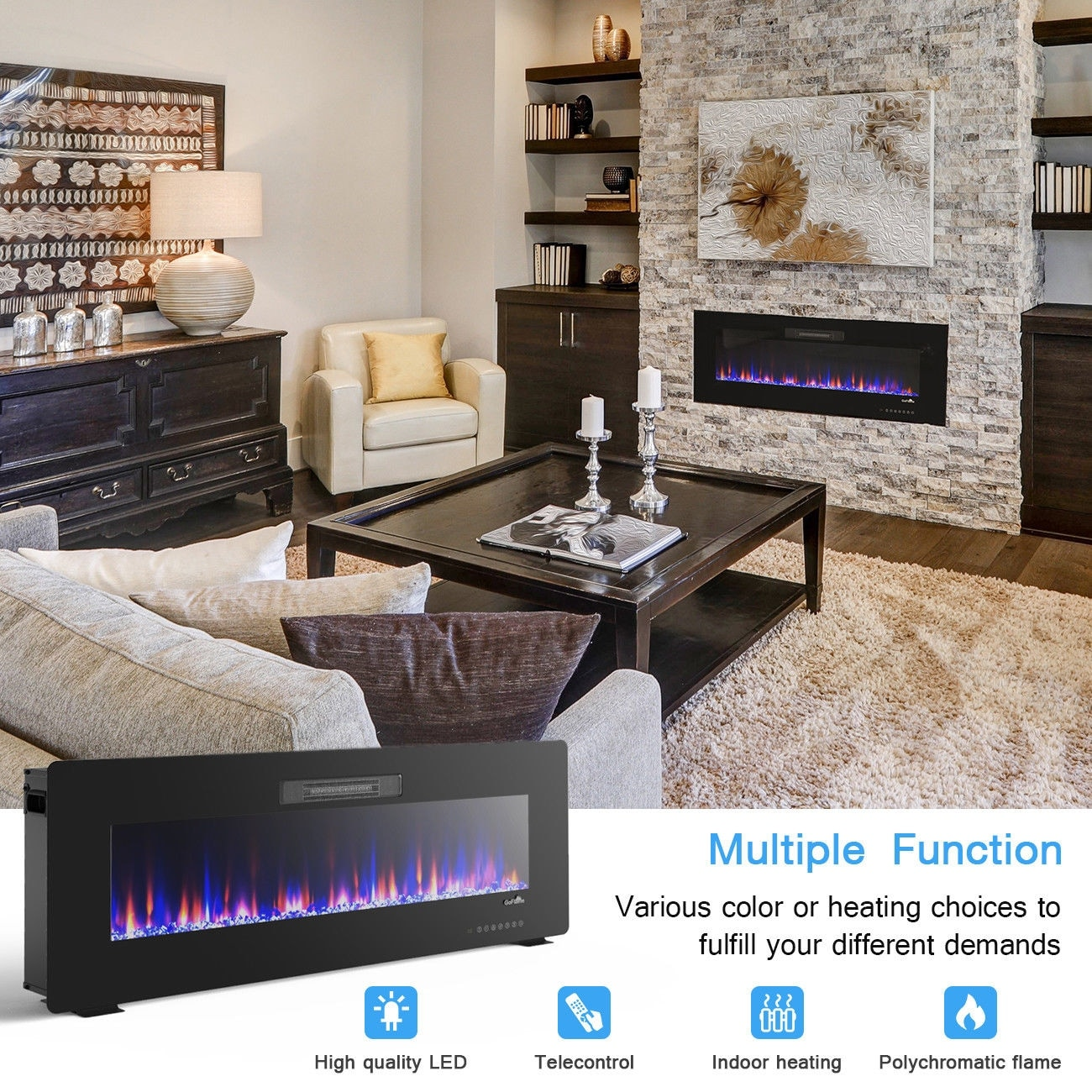 Electric Fireplace Built Into Wall 50