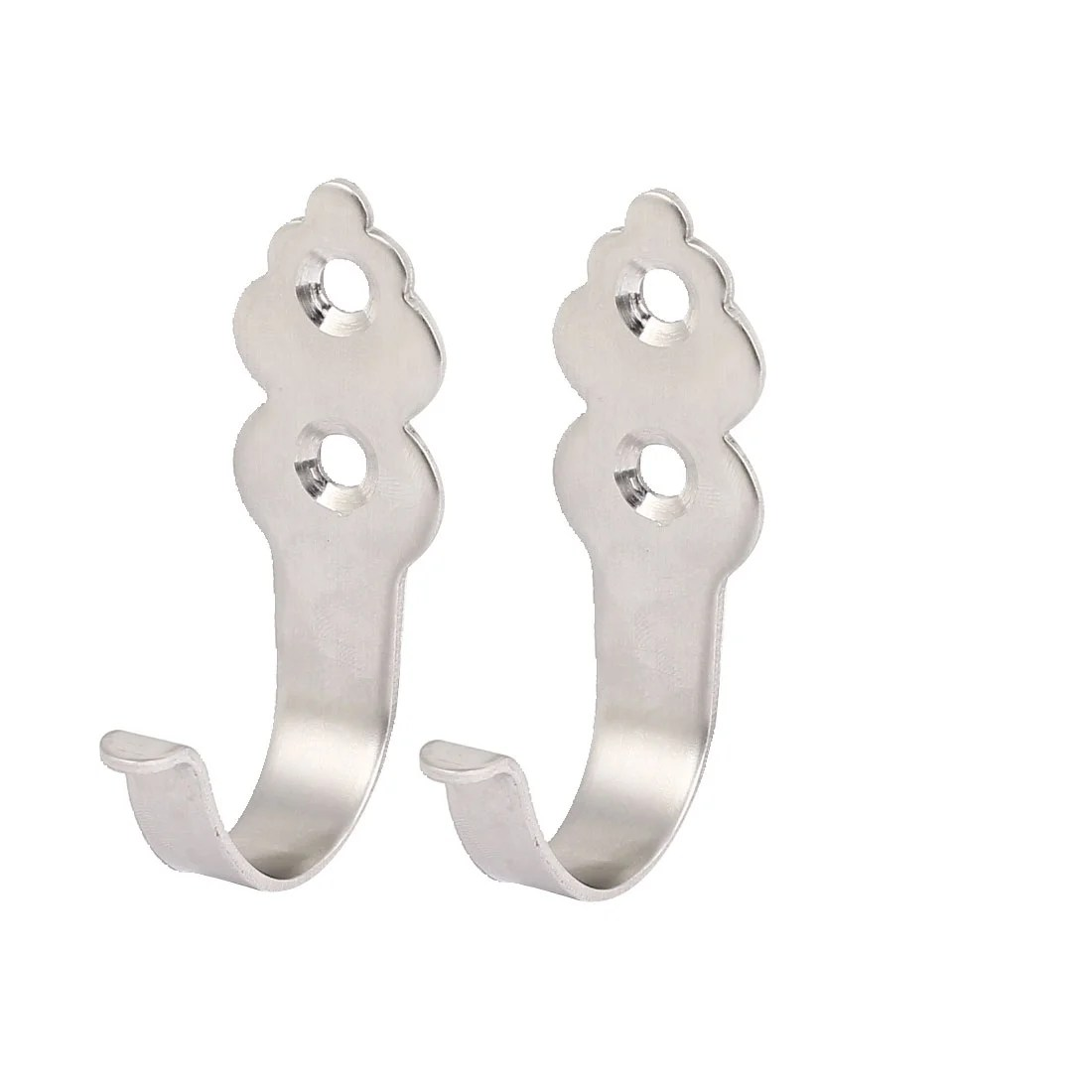 Clothes Hooks 2pcs Modern Wall Hooks Strong Hold Stainless Steel Clothes Hooks Hanger