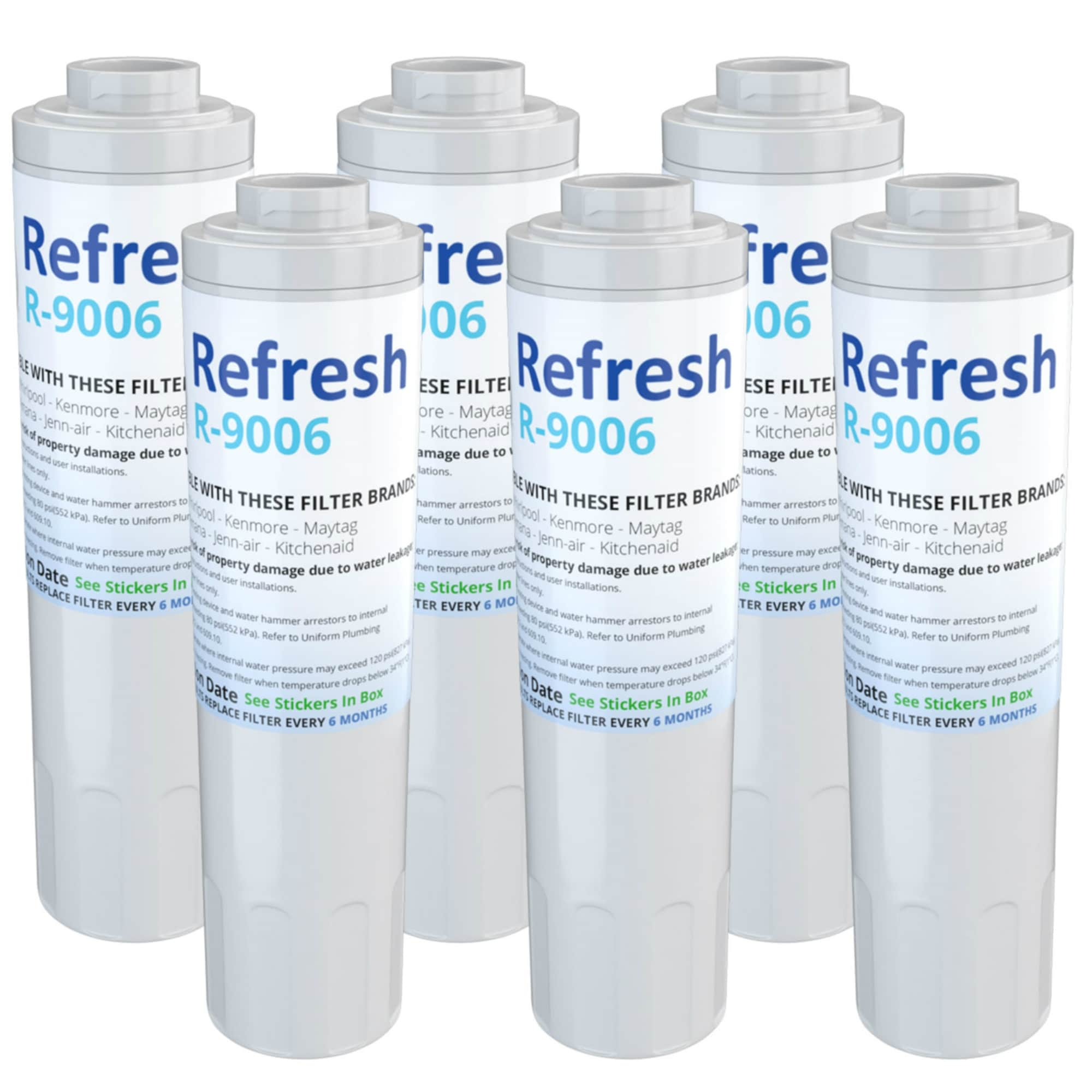 Kitchenaid Krfc300ess Replacement Water Filter For Kitchenaid Krfc300ess Refrigerator Water Filter By Refresh 6 Pack