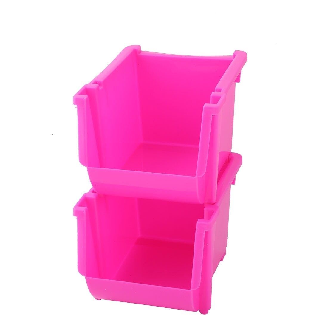 Stationary Boxes Household Snacks Candy Stationery Container Storage Boxes Holder Fuchsia 2pcs