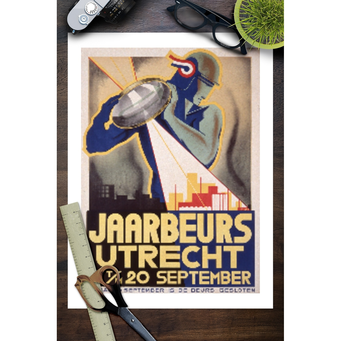 Vintage Shop Utrecht Jaarbeurs Utrecht Vintage Poster Artist Pieck Netherlands C 1934 Art Print Multiple Sizes Available 9 X 12 Art Print