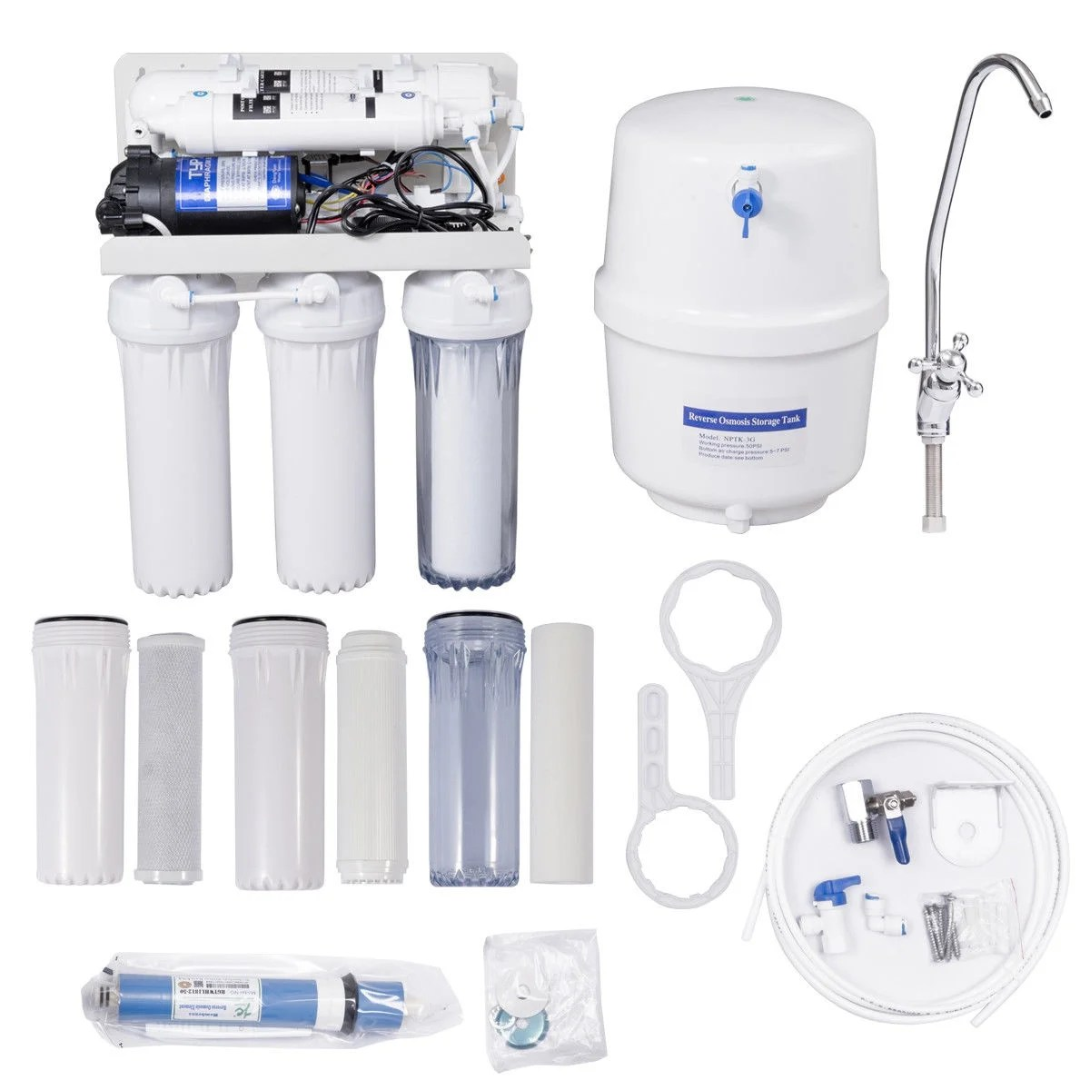 Reverse Osmosis Drinking Water System Costway 5 Stage Ultra Safe Reverse Osmosis Drinking Water Filter System Purifier White