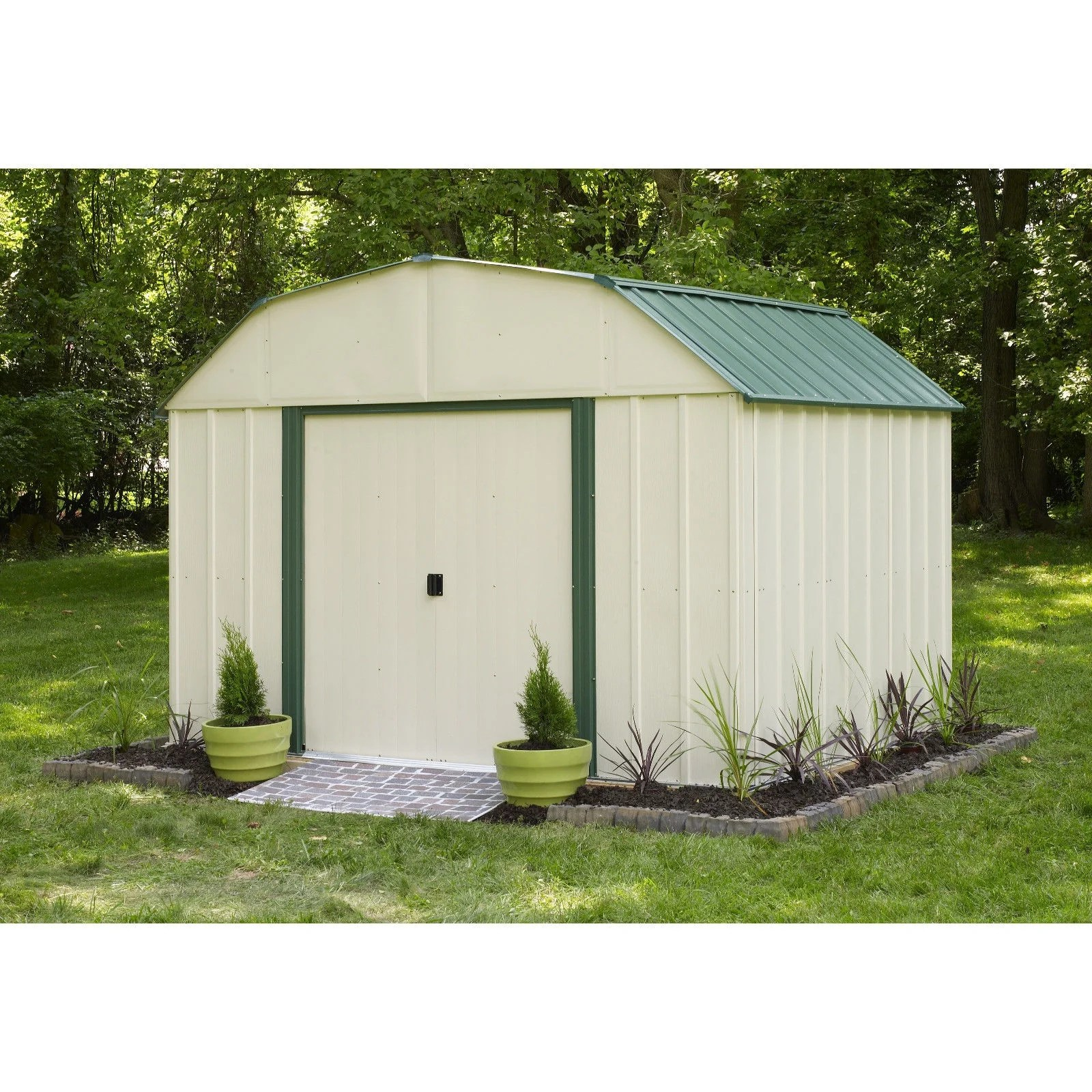Steel Storage Sheds Arrow Vinyl Sheridan 10 W X 8 L Steel Storage Shed Vs108 B