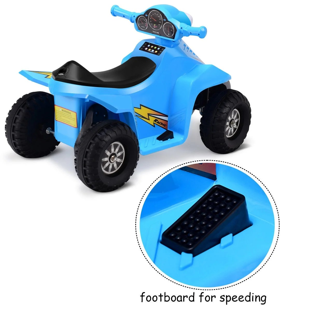 Toddler Car Dashboard Gymax Kids Electric Car Battery Power Toddler Vehicle W Dashboard Radio Light Blue
