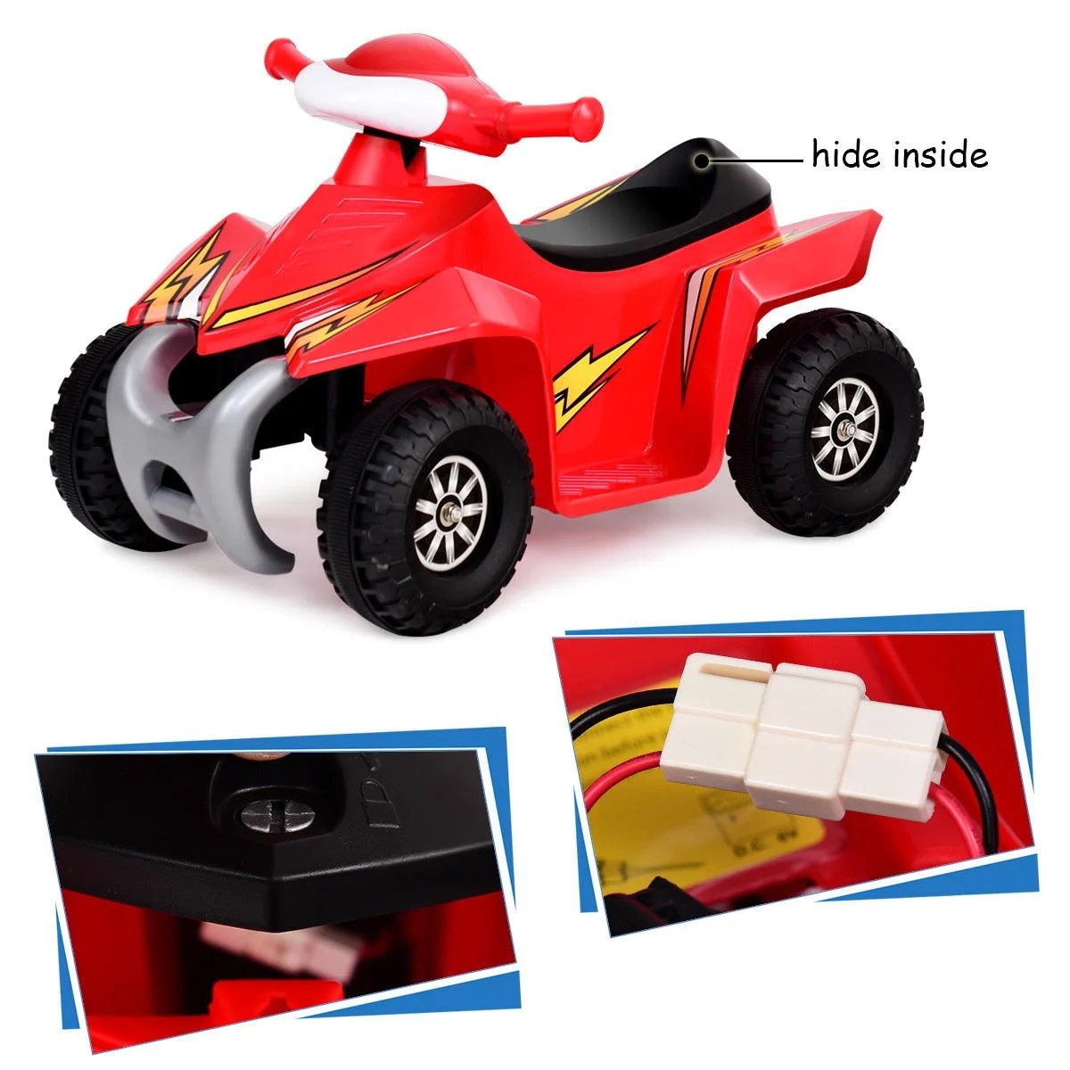 Toddler Car Dashboard Gymax Kids Electric Car Battery Power Toddler Vehicle W Dashboard Radio Light Red