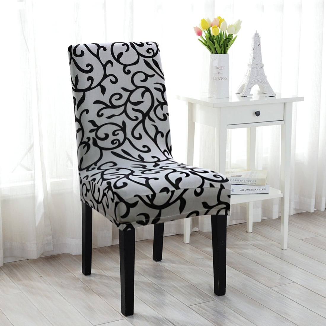 Chair Cover Stretchy Dining Chair Cover Short Chair Covers Washable Protector