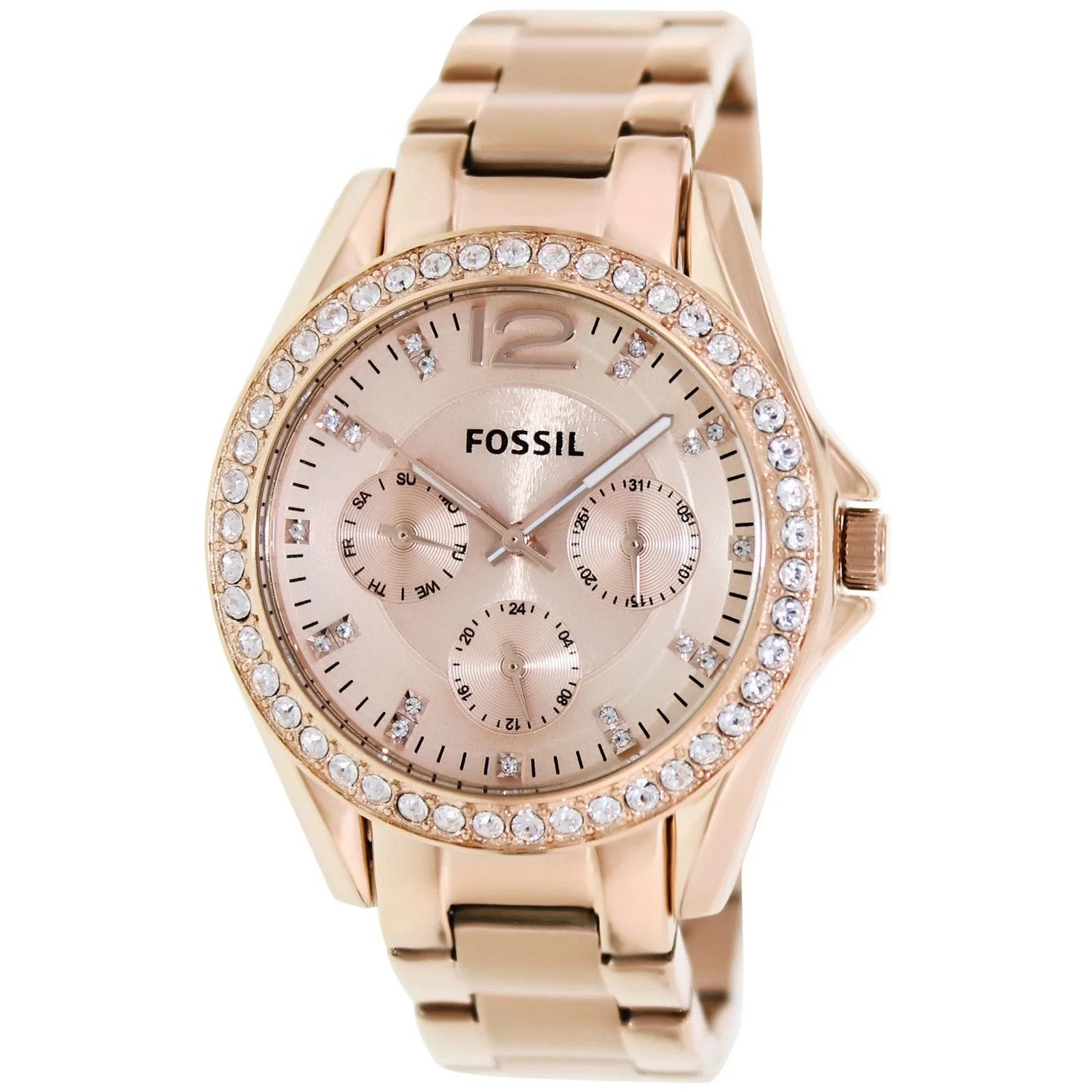 Fossil Riley Fossil Women S Riley Rose Gold Stainless Steel Fashion Watch