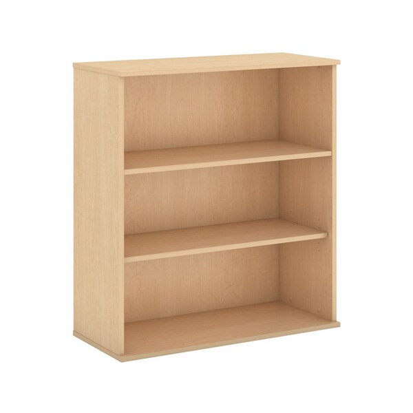 Bbf Collection 48 Inch 3 Shelf Wide Wooden Bookcase