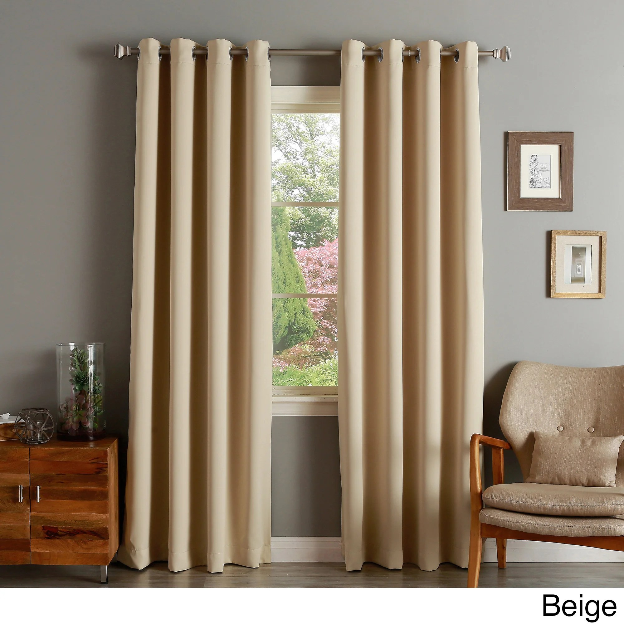 Curtains Pelmets Home Furniture Diy Chocolate Thermal Insulated Blackout Grommet Top Window Curtain Panel 52
