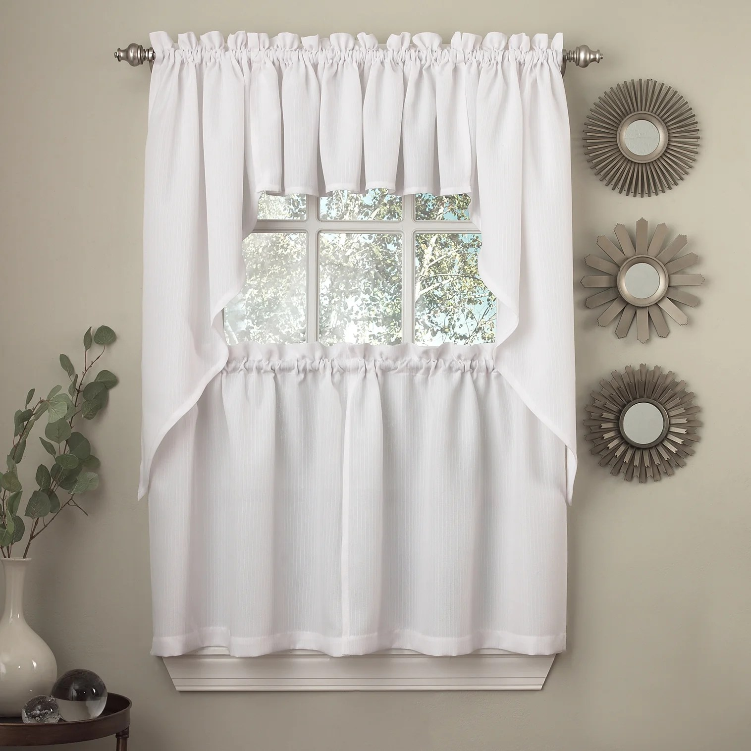 Grey And White Gingham Curtains Buy Curtain Tiers Online At Overstock Our Best Window Treatments