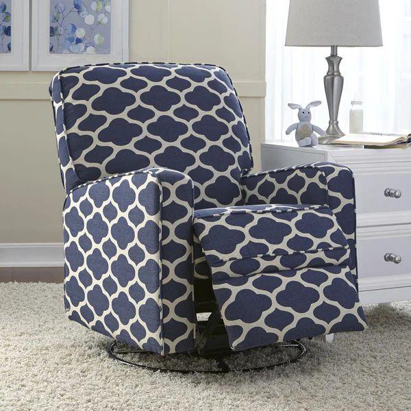 Leo blue nursery swivel glider recliner chair free