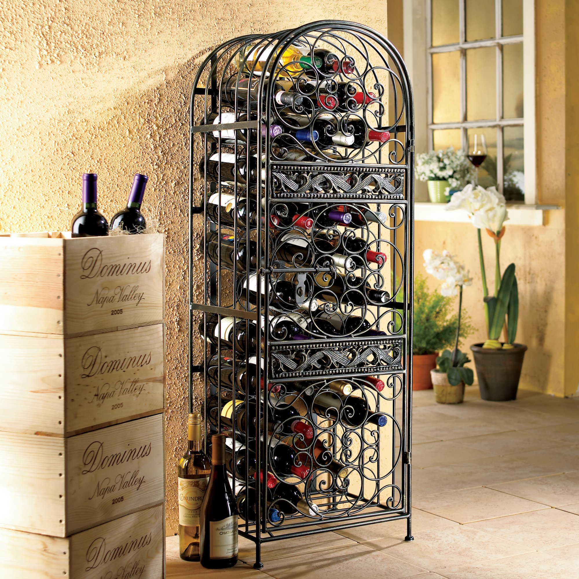 Metal Wine Racks Buy Metal Wine Racks Online At Overstock Our Best Kitchen