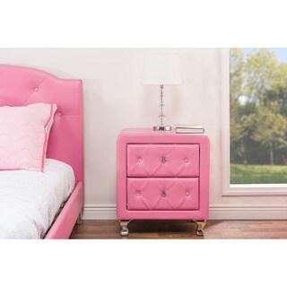 Stella crystal tufted pink modern bench 17186637