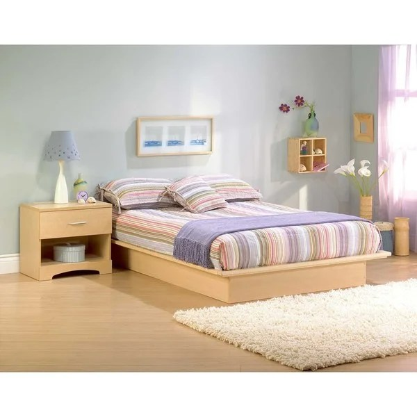 South Shore Step One Full Platform Bed (54), Natural Maple   Free