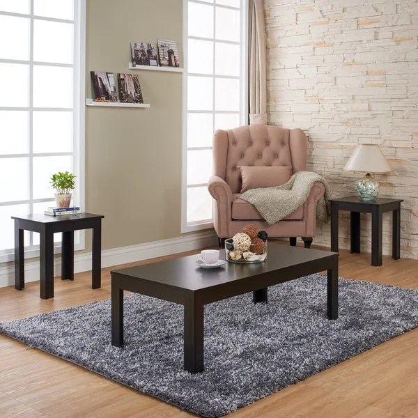 Furniture of America Artemie Modern 3-piece Coffee and End Table - 3 piece living room table set