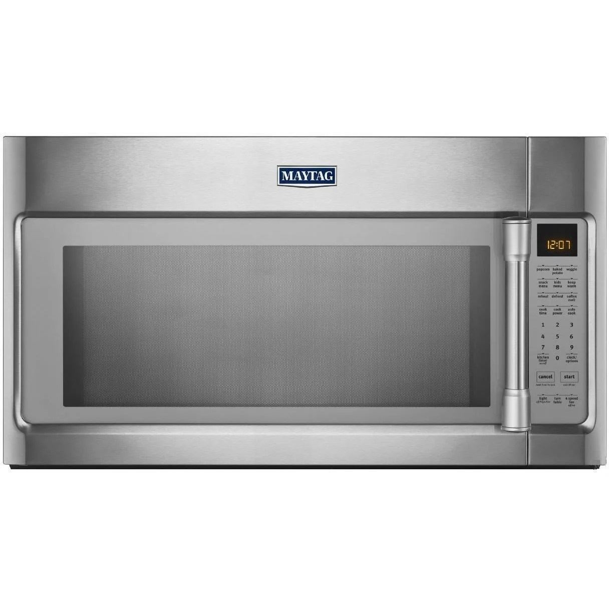 Maytag 2 1 Cubic Foot Over The Range Stainless Steel Microwave Oven Overstock 10180800