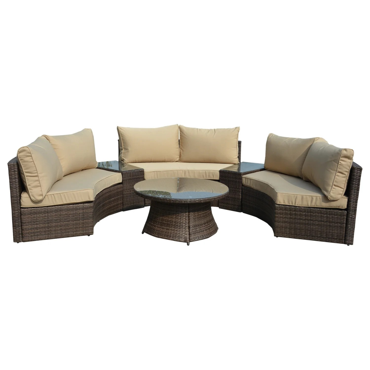 Pearl Daybed Outdoor Manhattan Comfort Pearl Semi Circle Outdoor Sofa Patio Set