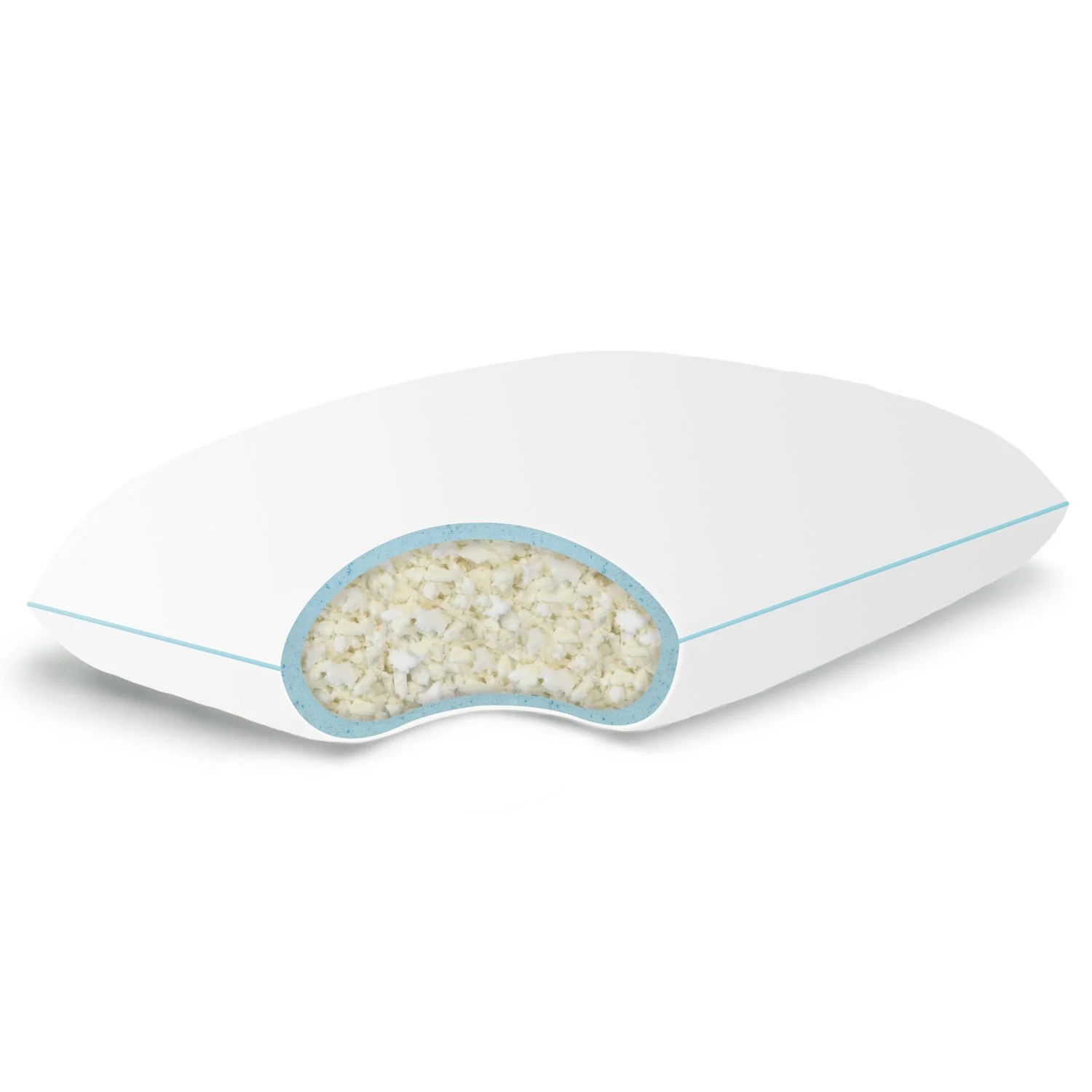 Gel Infused Memory Foam Pillow Details About Gel Infused Shredded Memory Foam Pillow