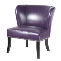 Hilton Purple Accent Chair - 17398362 - Overstock.com ...