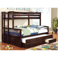 Furniture of America Rodman 2-piece Twin over Queen Bunk ...