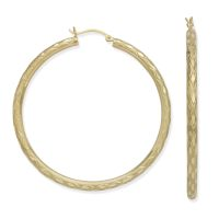 Extra Large Gold Hoop Earrings 10k 10k Gold Small Polished ...