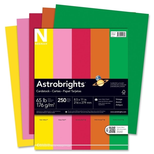 Shop Astrobrights 65lb Printable Assorted Colors Cardstock- 1 Pack - printable cardstock