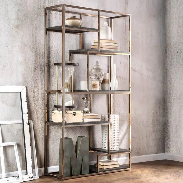 Shop Furniture Of America Nara Contemporary 6 Shelf Tiered