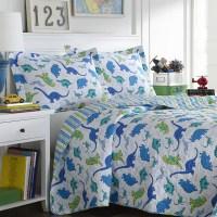 Shop Laura Ashley Dinosaurs Reversible 3-piece Quilt Set ...