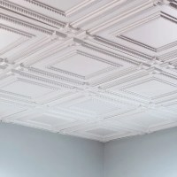Fasade Coffer Gloss White 2-foot Square Lay-in Ceiling ...