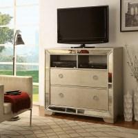 Furniture of America Maxine Modern Silver Mirrored Media ...