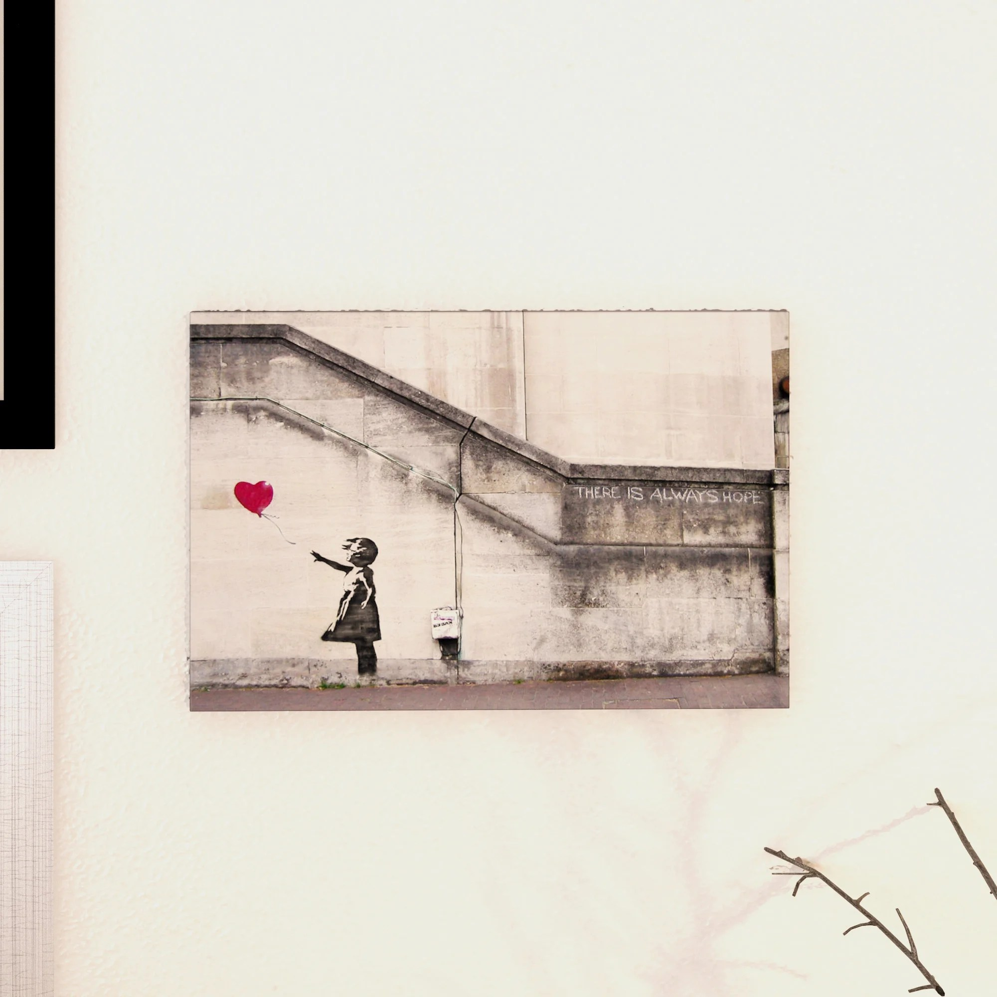 Banksy Canvas Art Shop There Is Always Hope Balloon Girl By Banksy Canvas Print