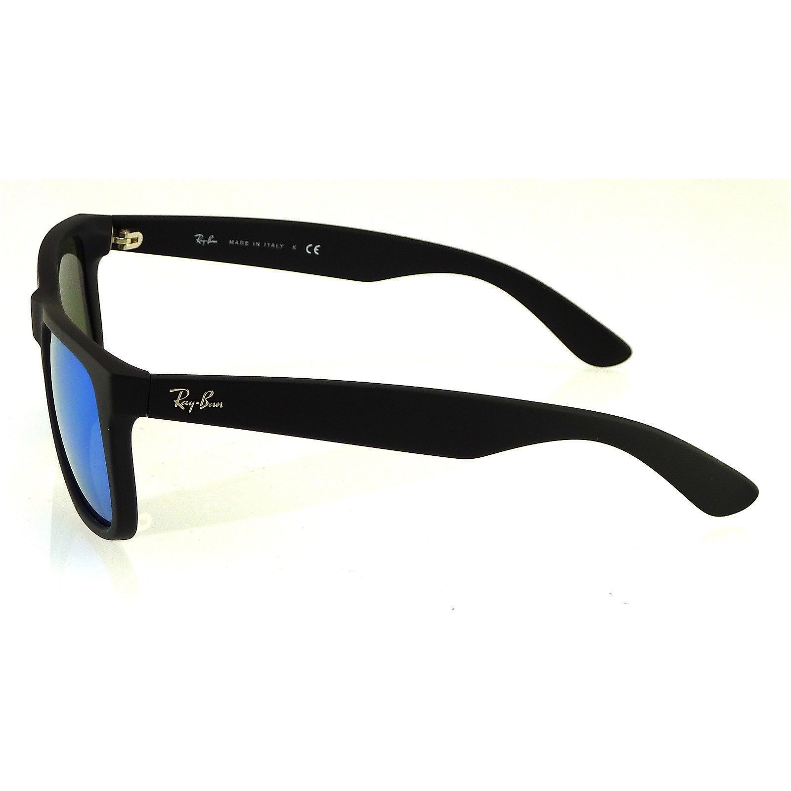 Mirror Frame Glasses Ray Ban Justin Color Mix Rb 4165 Unisex Black Frame Blue Mirror Lens Sunglasses