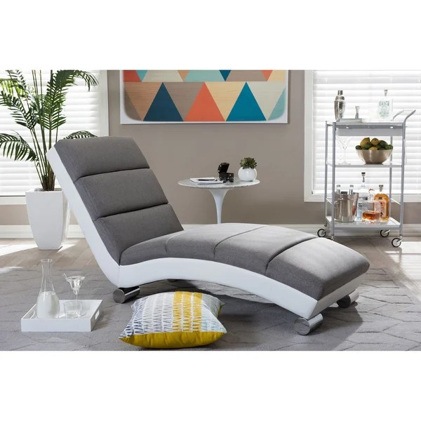 Modern Chaise Lounge Shop Baxton Studio Percy Modern And Contemporary Grey