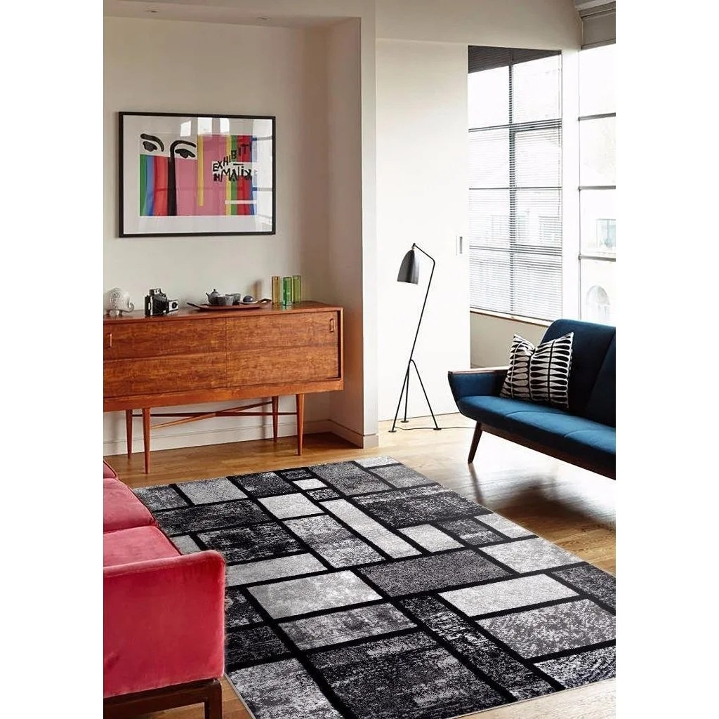 Modern Living Room Persian Rug Details About Persian Rugs Modern Grey Rug 5 2 X 7 2