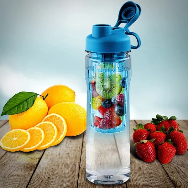 Kosas Home Kitchen Island Fruit Infuser Tritan 28 Oz. Water Bottle With Reusable Ice