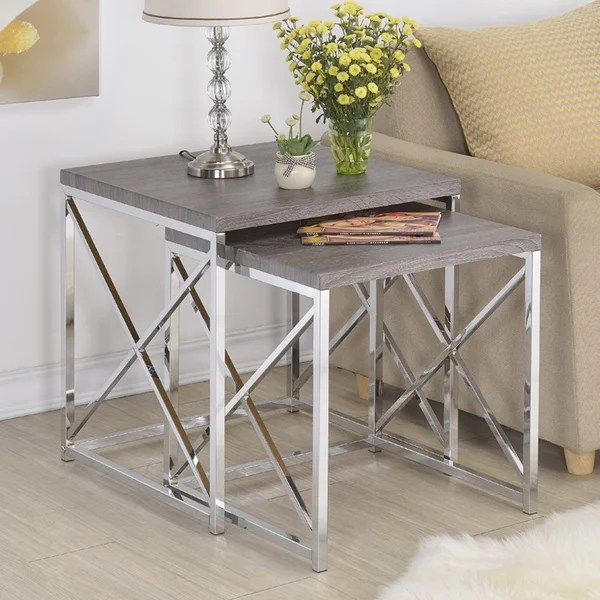 Shop Set of 2 X Design Nesting Slide tables - Free Shipping Today