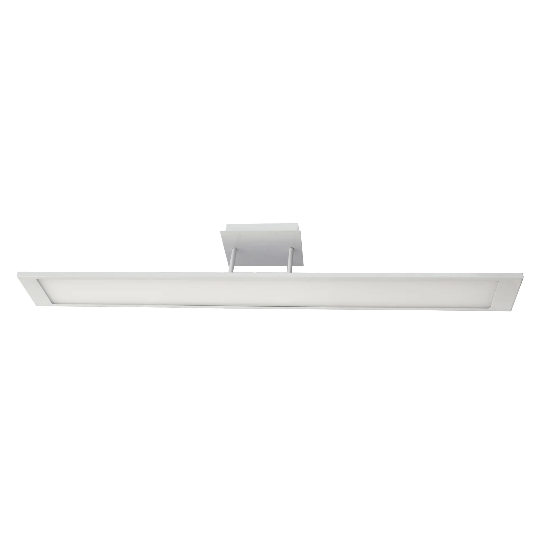 40 Watt Led Details About Homeselects 6649 40 Watt Led Integrated Linear Flat Panel Semi Flush Light