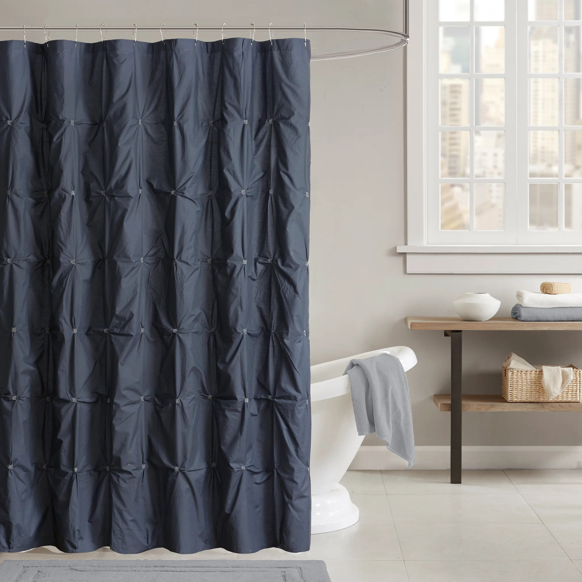 Buy Shower Curtains Online Buy Blue Pintuck Shower Curtains Online At Overstock Our