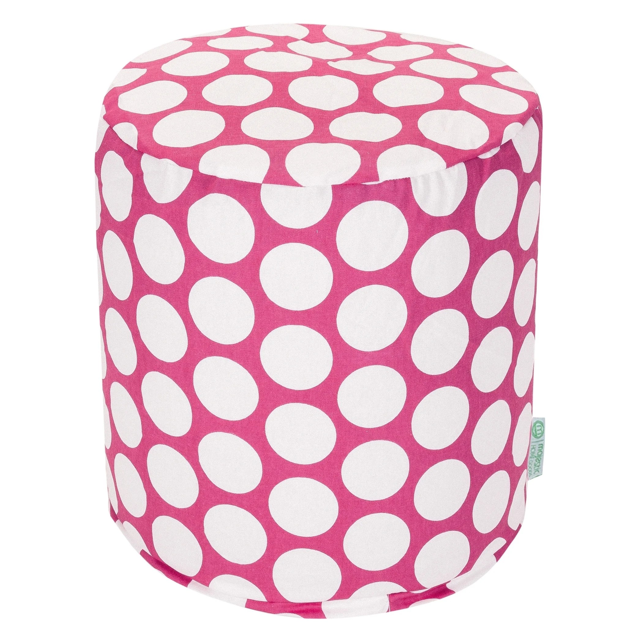 Extra Large Pouf Ottoman Details About Majestic Home Goods Large Polka Dot Indoor Ottoman Pouf 16